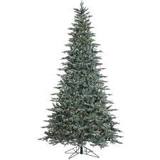 Vickerman 9 Crystal Frost Balsam Fir Artificial Christmas Tree With 1000 Clear Lights 70