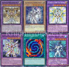Yugioh Best Kuriboh Deck by Authentic Jaden Yuki Deck Stratos Elemental Hero Divine Core