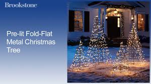 Spiral Pre Lit Christmas Trees by Pre Lit Fold Flat Metal Christmas Tree Youtube