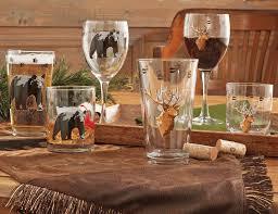 Wine Themed Kitchen Set by Wildlife Glassware Sets