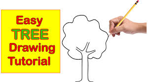 Tree Drawing Step by Step Easy Tutorial for Kids Easy and Quick