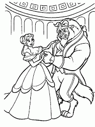 Dance Beauty And The Beast Coloring Pages