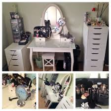 Ikea Hemnes Desk With 2 Drawers by My New And Updated Vanity Ikea Hemnes Dressing Table With Alex