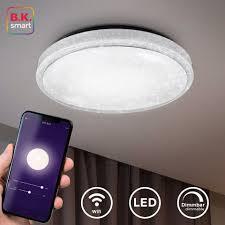 b k licht led sternenhimmel smart home deckenleuchte led sternenlicht leuchte dimmbar 24w glitzer le wifi kaufen otto