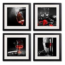 Grape Wall Decor For Kitchen by Amazon Com Framed Wine And Grapes Wall Art Prints Posters For