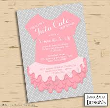 Baby Shower Cards Samples by Baby Ballerina Tutu Invitations U0026 Party Ideas