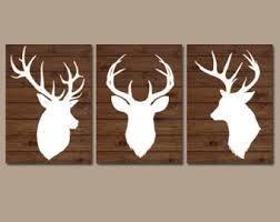 Plank Wall Art Canvas Or Prints Baby Boy Country Nursery Artwork Deer Theme Big Bedroom Antiers Rustic Decor Wood