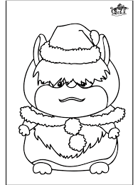 Anime Hamsters Colouring Pages