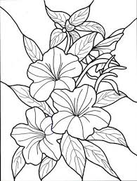 Enjoyable Design Ideas Flower Coloring Pages For Adults Adult On A Vas