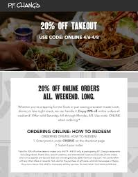P.F. Changs Coupons 🛒 Shopping Deals & Promo Codes January ...