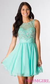 sleeveless beaded scoop neck party dress promgirl
