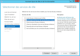 bureau a distance windows server 2012 installation du rôle de gestionnaire de