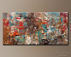 Large Abstract Art For Sale Online Can T Stop Modern Inside Canvas Idea 10