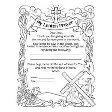 Catholic Crafts Coloring Great Lenten Pages