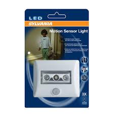 shop sylvania white led light with motion sensor auto on
