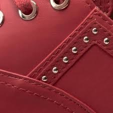 Espadrilles LOVE MOSCHINO Rot Textil Damen Schuhe Love Moschino Spring Summer OBIBBONMA