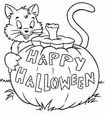Coloring Pages Simple Halloween Download And Print For Free