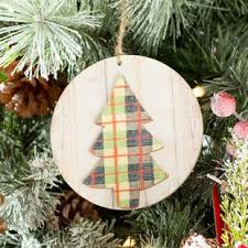 Warm Wishes Plaid Tree Ornament