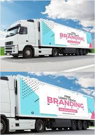 100 Free Truck Branding PSD Mockup 2018 Mockup Planet