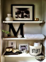 Guest Half Bathroom Decorating Ideas by Elegant Cool Bathroom Shelves 26 In Best Design Interior With Cool