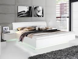 doppelbett 1 weiß teils hochglanz 180x200 ehebett 2x nako led expendio