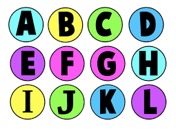 Coloring Pages Printable Alphabets Colorful Color Letters Contemporary Letter A To L Round Circle