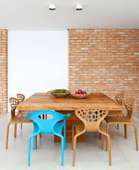 Entertaining And So To Say Talkative Decor Composition Contrasts Characteristic Accents Are The Key In Dining Area Solid Wood Table