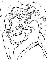 Lion King Coloring Pages Free Disney Frozen Online Printables
