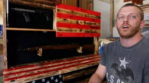 Diy Hidden Gun Cabinet Plans by Wooden American Flag Gun Cases Made By Ryan Marler In O U0027fallon