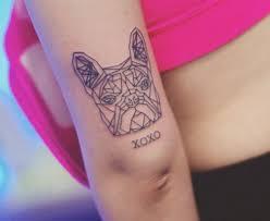 French Bulldog Miniature Tattoo Elbow