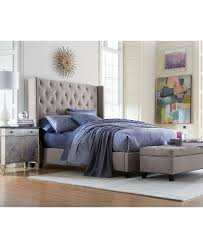 Macys Bed Headboards by Rosalind Upholstered Bedroom Furniture Bedrooms Nailhead Trim