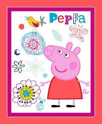 peppa pig fabric etsy peppa