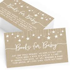 Buy Bring A Book Insert Cards For Baby Shower Set Of 25 Books