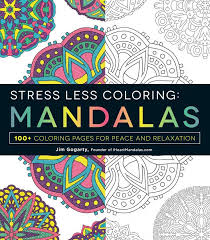 Mandalas Stress Less Adult Coloring Book With Soft Cover