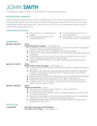Business Administration Resume Templates Resumes Skills No Examples