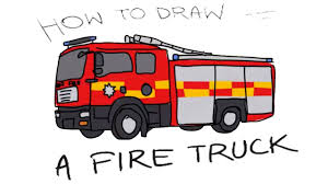 100 Fire Truck Drawing How To Draw A Fire Truck For Kids Art Colours For Kids With