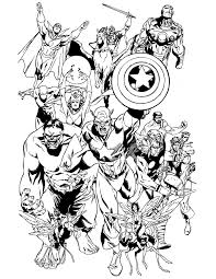 Classic Avengers Team Coloring Page