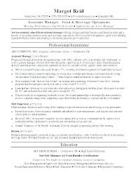 Resume Sample Restaurant Manager Examples And Construction On Host