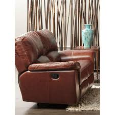 Cambridge Charleston Power Brown Double Reclining Console Leather