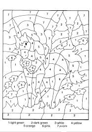Unicorn Pictures To Color Packed With Hard Coloring Pages By Number