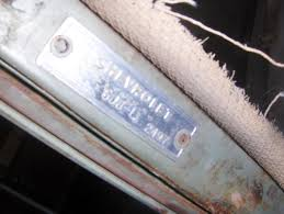 Technical - 1951 CHEVY SERIAL NUMBER LOCATION AND APPEARANCE   The ...
