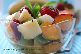 dessert aux fruits rapide salade de fruits les joyaux de sherazade
