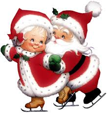 Transparent Cute Mrs Claus And Mr PNG Clipart