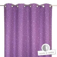 chambre enfant violet rideau occultant violet étoilé pour chambre enfant l 260 x l 140 cm