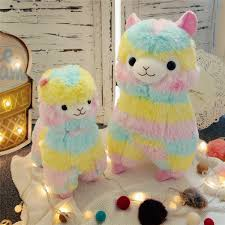 Cute Rainbow Alpaca Doll Soft Baby Stuffed Animal ToyAeruiytoyscom