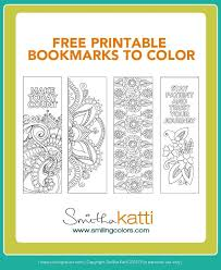 Free Printable Bookmarks To Color Adult Coloring Pages Stress Relieving Patterns Wwwsmilingcolors