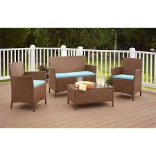 Outsunny Patio Furniture Assembly Instructions by Outdoor Patio Furniture Cushioned 5pc Rattan Wicker Aluminum Frame