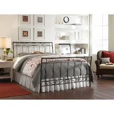 Wrought Iron And Wood King Headboard by Bedroom Queen Bed Frame With Headboard And Footboard Brackets