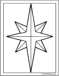 Christmas Star Coloring Printable