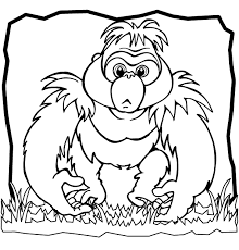 Perfect Gorilla Coloring Pages Best Design